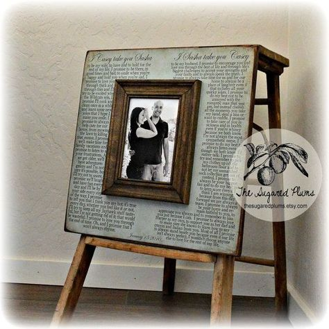 Wedding Vow Art, Framed Wedding Vows, Wedding Vow Keepsake, Anniversary Gift, Gift for Groom, Gift for Bride, 5th Anniversary Gift, 16x16#16x16 #5th #anniversary #art #bride #framed #gift #groom #keepsake #vow #vows #wedding