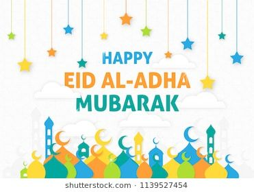 Happy Eid Al Adha Mubarak Background With Modern Concept Use For