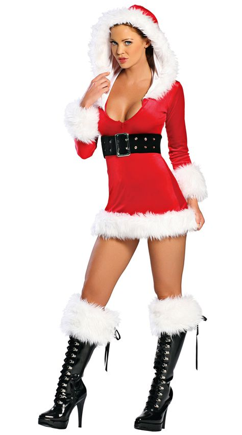 f9d372761 Womens Velvet Hooded Santa Claus Christmas Costume Red