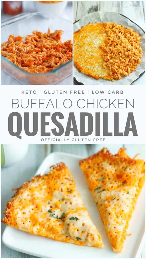 5 Ingredient Gluten Free & Keto Buffalo Chicken Quesadilla Recipe in Under 30 Minutes! Incredibly Easy Low Carb and Keto Cheese Shell Poulet Keto, Comida Keto, Keto Cheese, Goat Cheese, Diet Food List, Diet Foods, Diet Menu, Food Lists, Le Diner