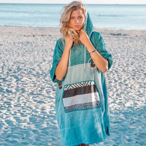 Erwachsende|Strand-und Badetuch|100/% Baumwolle Beach Poncho|Kapuzen-Handtuch f