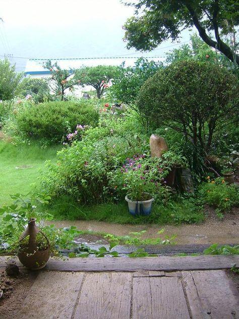 한옥과 돌담이 잘 어울리는 시골집 정원 Daum 부동산 정원 가꾸기 정원 시골집