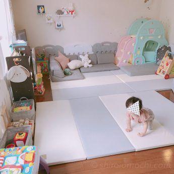 子どもが遊びたくなる 取り出しやすくおしゃれなおもちゃ収納と絵本棚 おもちが笑えば 2020 育児 赤ちゃんスペース 絵本棚