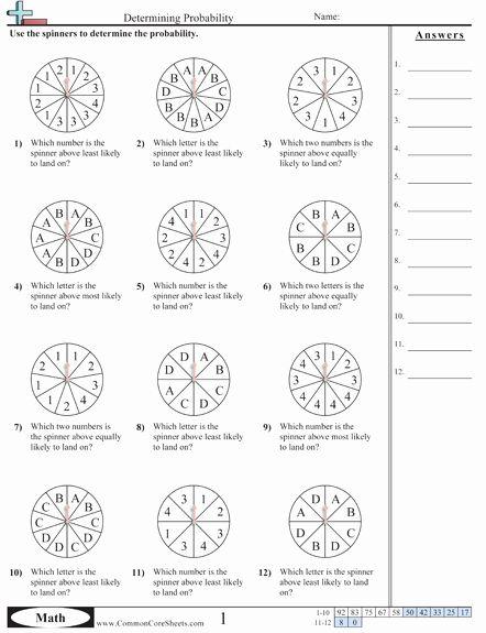 Probability Worksheet High School Lovely Probability Worksheets Math Pinterest Probability Worksheets Simple Probability Theoretical Probability Simple probability worksheets