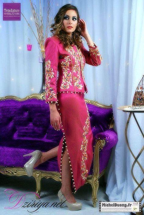 Algerian Fashion: pink karakou
