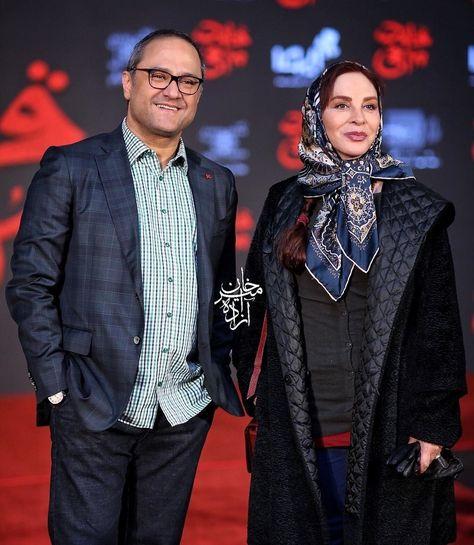 افسانه بایگان و رامبد جوان در افتتاحیه فیلم قانون مورفی Persian Girls Iranian Actors Hijab Fashion