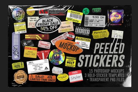 Peeled Paper Stickers