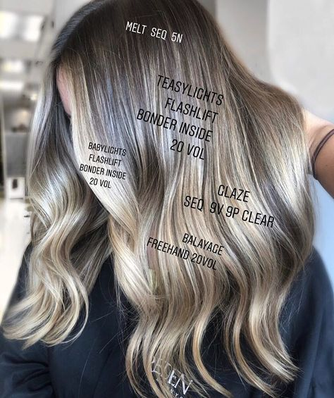 Utilizing multiple techniques to create one blended 𝑙𝑖𝑣𝑒𝑑 𝑖𝑛 look is my jam . Brown Hair With Blonde Highlights, Hair Highlights, Redken Hair Color, Hair Salon Names, Redken Hair Products, Hair Color Formulas, Hair Toner, Hair Colorist, Haircolor