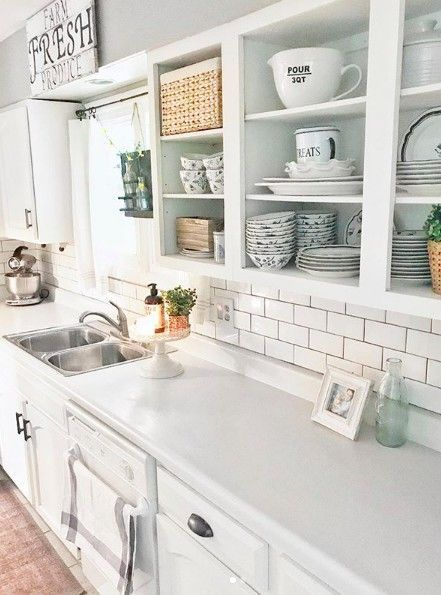 How To Remodel Your Kitchen Without Renovating Kitchen Without Cabinet Doors Home Decor Kitchen Upper Kitchen Cabinets