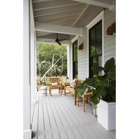 Azek Harvest 12 Ft Slate Gray Grooved Pvc Deck Board Lowes Com In 2020 Pvc Decking Deck Boards Slate Gray