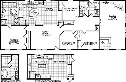 4-bedroom mobile home plans | bedroom double wide mobile home