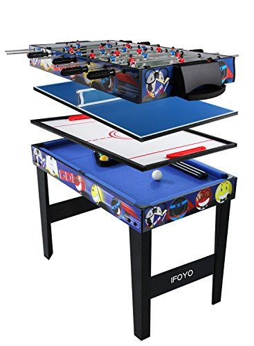 Ifoyo Multi Function 4 In 1 Combo Game Table Steady Pool Table Hockey Table Soccer Foosball Table Table Tennis T In 2020 Pool Table Multi Game Table Foosball Table