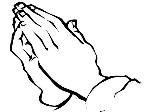 Praying Hands Template Printable | Hands Coloring Pages Free ...