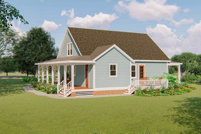 Plan 500051vv 3 Bed Country Home Plan With 3 Sided Wraparound
