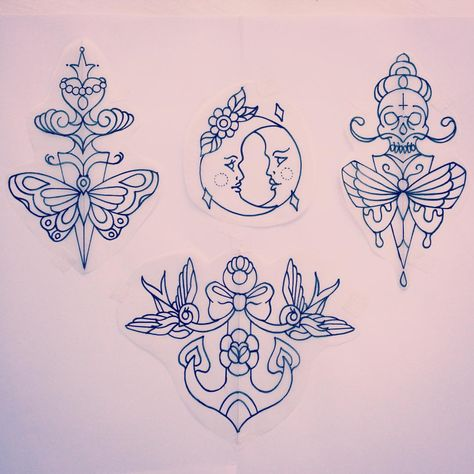 """Amy Tenenbaum ☨ on Instagram: """"I have these designs available, in colour or black and grey please email amytenenbaumtattoos@gmail.com for bookings and enquiries ✨"""""""