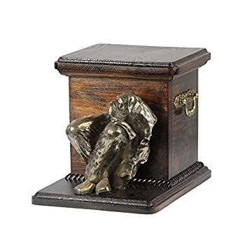 dog head urn made of Resin Doberman cropped UK ArtDog