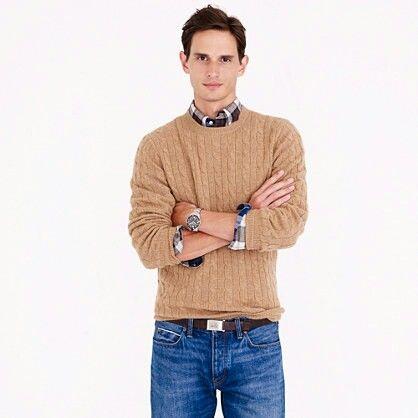 Italian cashmere cable sweater--J.Crew