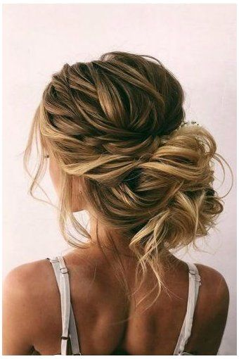 42 Wedding Hairstyles - Romantic Bridal Updos ❤ romantic wedding updos messy bun with bold side dutch bra 42 Wedding Hairstyles - Romantic Bridal Updos ❤ romantic wedding updos messy bun with bold side dutch braid on blonde hair oksana_sergeeva_stilist Messy Wedding Updo, Romantic Bridal Updos, Wedding Hairstyles For Long Hair, Wedding Hair And Makeup, Down Hairstyles, Indian Hairstyles, Engagement Hairstyles, Bridal Bun, Hair Makeup