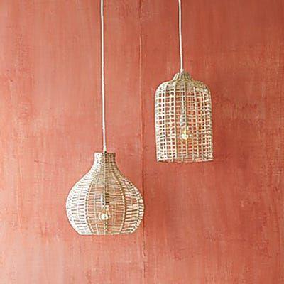 Rattan Pendant Light, Pier 1 Hanging Lamps