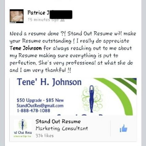 Client purchased a resume upgrade and reference letter package - resume consultant