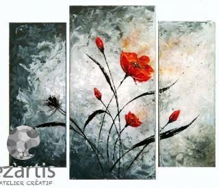 Peinture acrylique coquelicot fleur mathieu VENDU