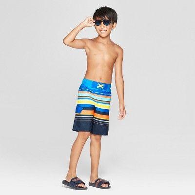 bdb4dd5464 Boys' Twist Dye Yellow Dash Swim Trunks - Cat & Jack Blue XL | Products | Swim  trunks, Boys swim trunks, Boys