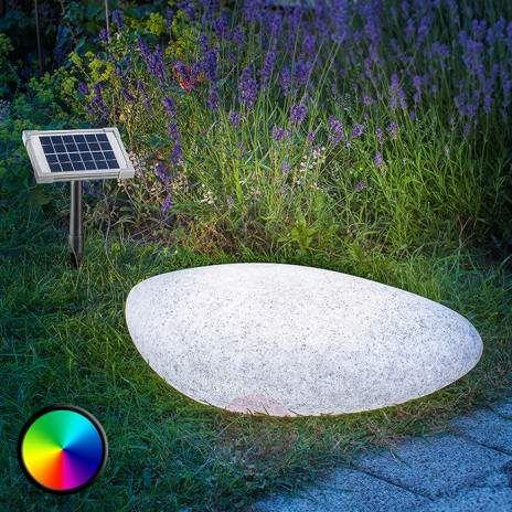 Aussendekorationsleuchte Solar Led Stone 40 In 2020 Dekorative Beleuchtung Led Rot Und Blau