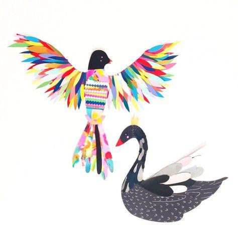 Photo of Paint Chip Birds — ART CAMP