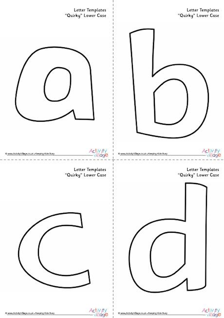 Letter Templates Lower Case Quirky Lowercase A Printable Letter Templates Bubble Letters Lowercase