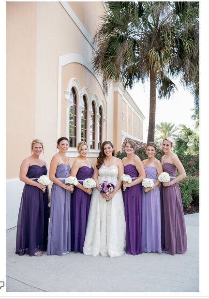 Different Shades Of Purple For Bridesmaids Beautiful