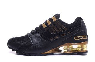 Mens Nike Shox Avenue NZ Black Gold Footwear | Nike shox nz ...