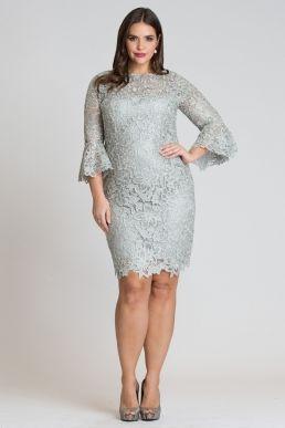 Teri Jon by Rickie Freeman Floral Lace Sheath Dress with ...
