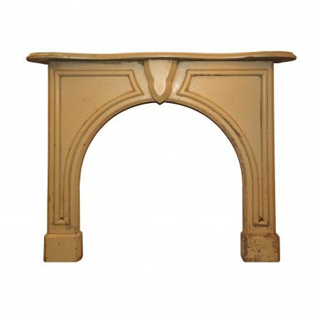 Salvaged Antique Fireplace Mantel With Arched Opening Preservation Station Nashville Tn Wooden Arch Antique Fireplace Mantels Fireplace Mantels