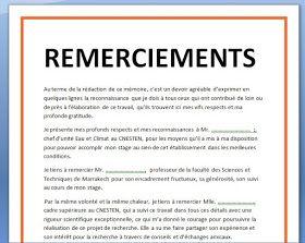 Exemple Remerciement Pfe Mémoire Ou Rapport De Stage 2