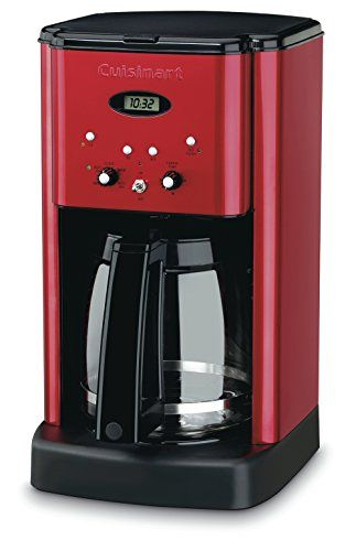 Cuisinart 12 Cup Brew Central Coffee Maker Metallic Red Traditional Brushed Steel Design With A 12 Cup Ca Best Coffee Maker Coffee Maker Thermal Coffee Maker