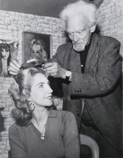 Patrica Crowther and Gerald Gardner #occult #vintage #hair #1940s #hairstyle #curls