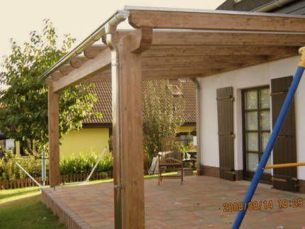 Terrassenüberdachung  Pergola  Terrassendach Holz mit Montage in - mediterrane terrassenberdachung