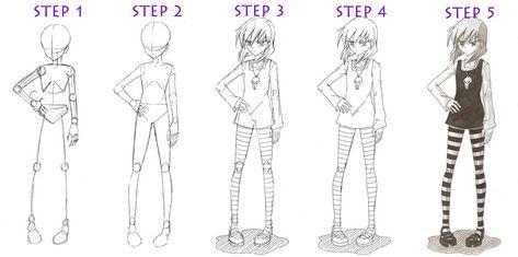 48 Ideas Drawing Of Girls Easy Full Body