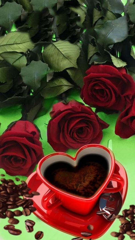 чашечка кофе для тебя картинки и роза