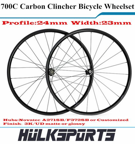 Ultra Light 700c 24mm Profile 23mm Width Clincher Carbon Cheap