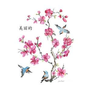 Cherry Blossoms Jp2365 By Jean Plout Cherry Blossom Art Cherry Blossom Painting Blossom Tree Tattoo
