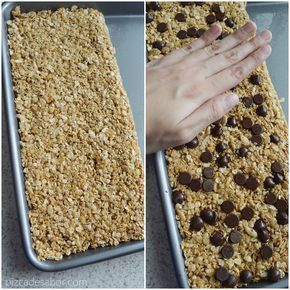 Barritas De Granola Caseras Sin Hornear Sin Gluten Y Fáciles Pizca De Sabor Receta Barras De Granola Caseras Barra De Cereal Casera Barritas De Granola