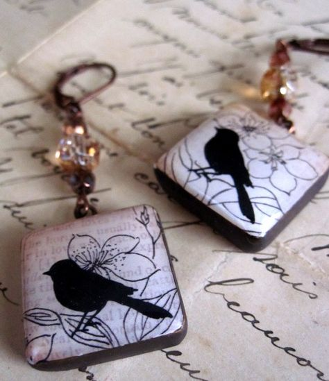 Polymer Clay Earrings by curlygirldesigns