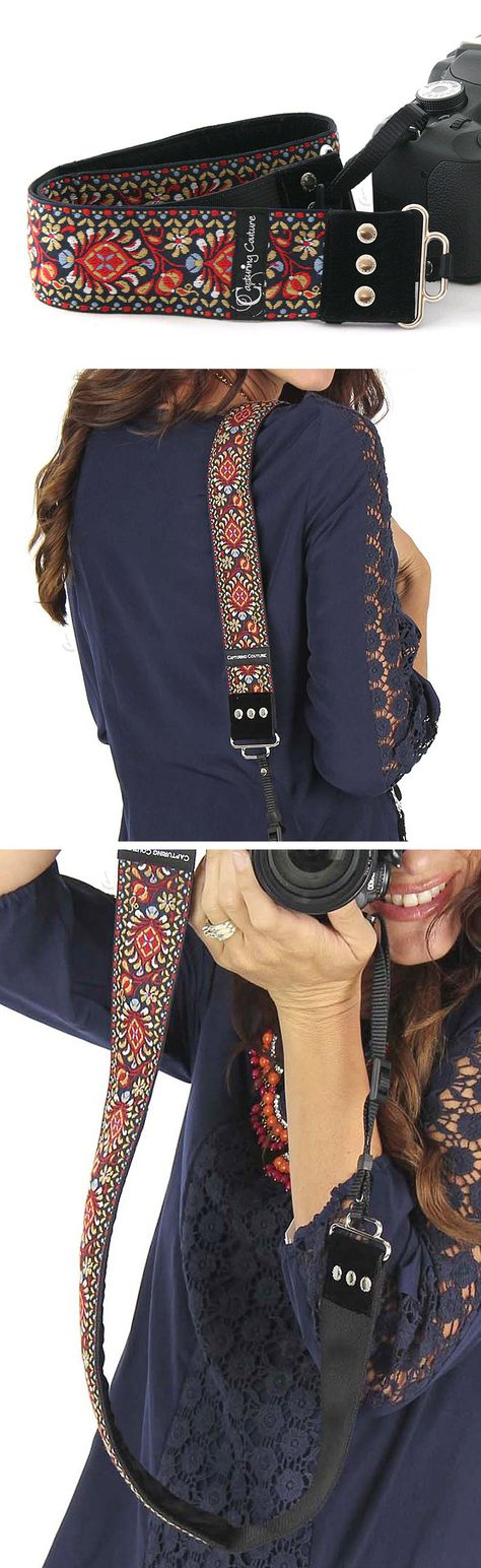 Patterned camera strap   great gift for female photographers