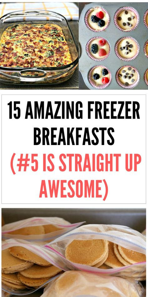 These are the perfect freezer meal breakfasts for busy mornings! Freezer meal breakfast casseroles, burritos, sandwiches, and more! meals 15 Freezer breakfast recipes (that will make a busy morning so much better) Freezer Friendly Meals, Budget Freezer Meals, Freezer Cooking, Frugal Meals, Freezer Recipes, Make Ahead Freezer Meals, Veggie Freezer Meals, Freezer Meal Party, Cooking Tips