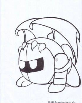 Meta Knight Coloring Page By Metaknightxmarx Coloring Books Meta Knight Coloring Pages