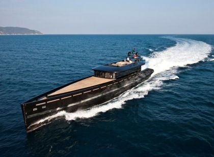 Black Total Covering On Luxury Yacht So Classy