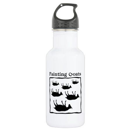 Fainting Goats Water Bottle - tap to personalize and get yours #WaterBottle  #myotonic #goat #myotonia #congenita #animals