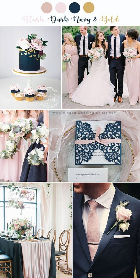 classic blush and dark navy wedding colors farbkonzept 7 Stunning Wedd. - classic blush and dark navy wedding colors farbkonzept 7 Stunning Wedding Color Palettes with Blush Pink -