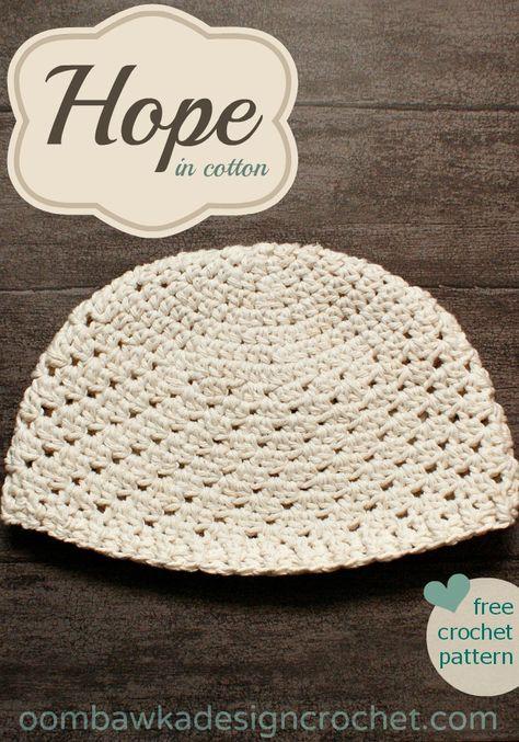 Hope in cotton Hat Pattern | I Love Crochet #14 | Pinterest